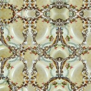 Plate Shards w/silver filigree