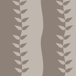Warm Grey Wavy Leaves