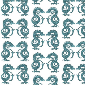 Dragons at Dawn - Deep Teal