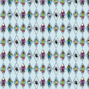 Bouffons du Carnaval Chien - blue