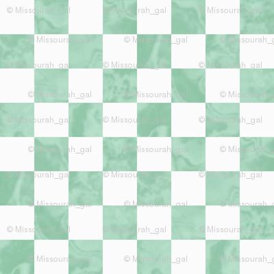 Pantone Hemlock Green Checkerboard