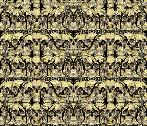 Snakes and Skulls fabric by whimzwhirled on Spoonflower - custom fabric