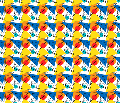 Retro Contemporary Geometric Pattern fabric by anderson_designs on Spoonflower - custom fabric