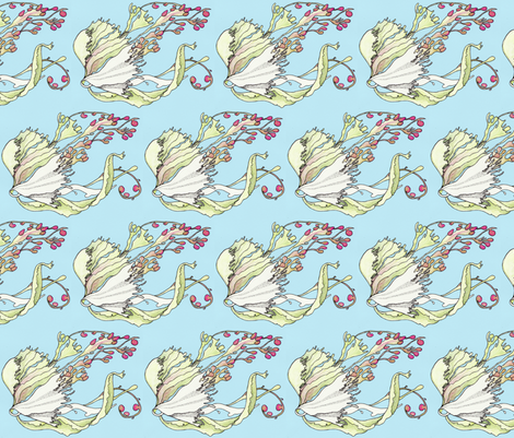 seaweed in current small fabric by annemclean on Spoonflower - custom fabric
