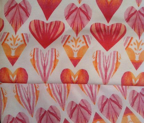 Watercolor Pink Peach Heart