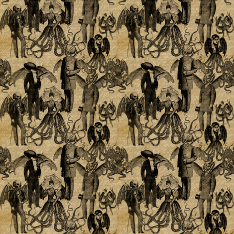 A Day in Ryleh fabric by marchhare on Spoonflower - custom fabric