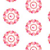 Heart Flowers - white
