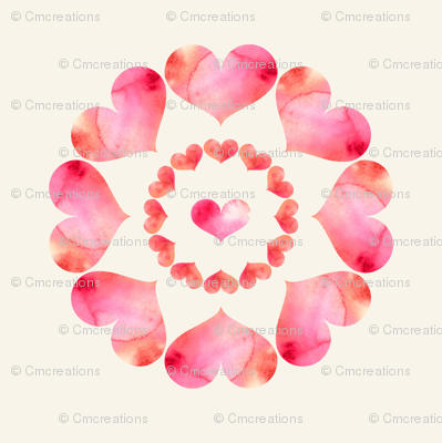 Heart Flowers - Neutral