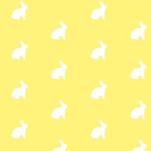 White Bunny Lemon Yellow