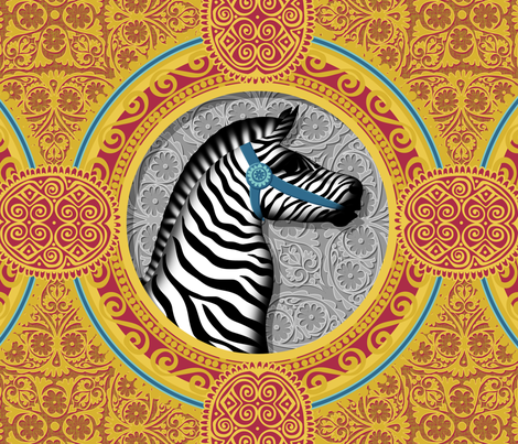The Carousel Zebra fabric by spellstone on Spoonflower - custom fabric