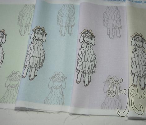 Angora Goat doodle - slate blue