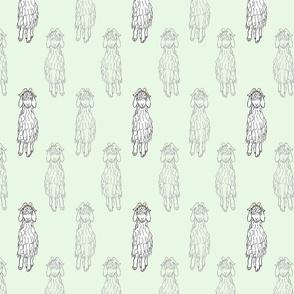 Angora Goat doodle - mint