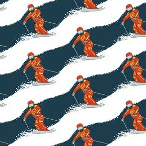 Retro skiing