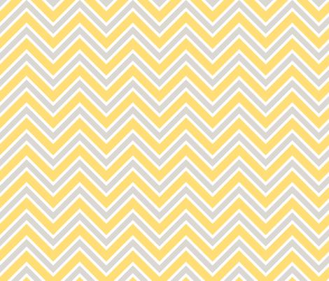 Chevron lemon yellow and gray fabric by spacefem on Spoonflower - custom fabric