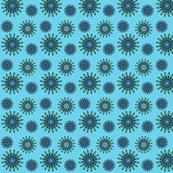 moody blue flowers