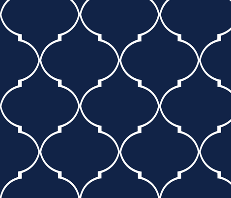 Kate Trellis in Reverse Navy fabric by willowlanetextiles on Spoonflower - custom fabric