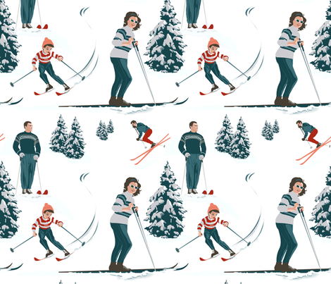 Sports d'hiver fabric by vannina on Spoonflower - custom fabric