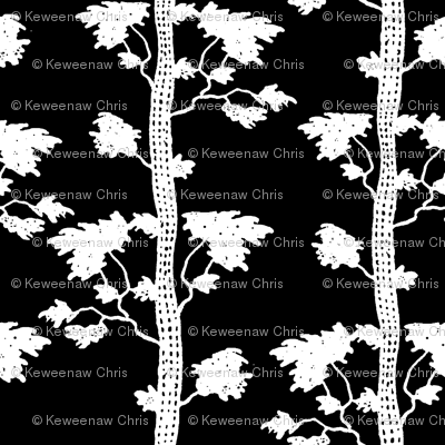 tree stripe white