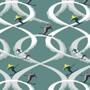 Figure 8 Skiers