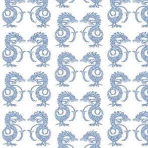 Dragons at Dawn - Soft Blue