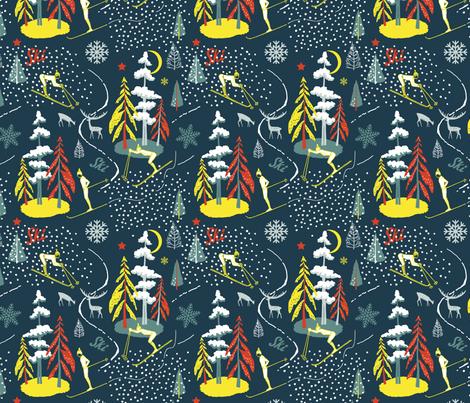 ski_ fabric by uramarinka on Spoonflower - custom fabric