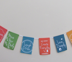 DIY Resolutions Pennant / Banner