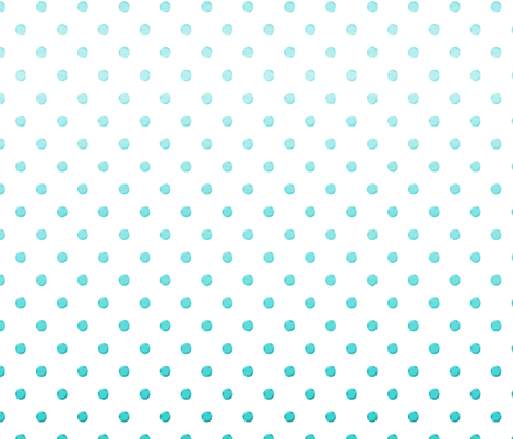 Turquoise Gradient Dot fabric by willowlanetextiles on Spoonflower - custom fabric
