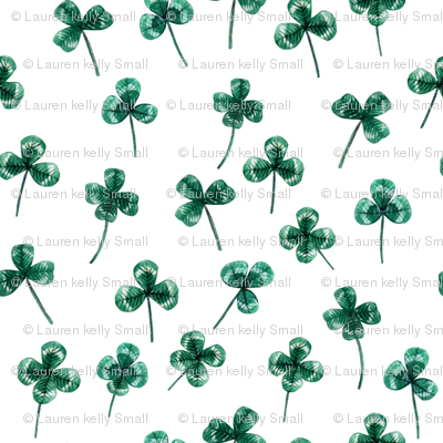 Shamrock Mini Green on White, Close Together