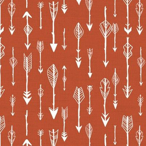 Lots of Arrows on Rust Red