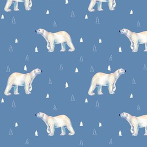 Polar Bear Tundra Blue