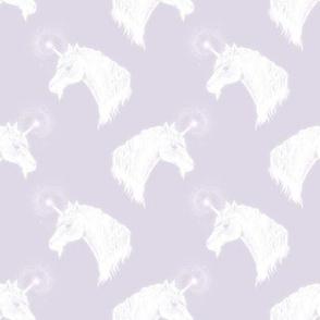 Unicorn Bust on Dusty Lilac