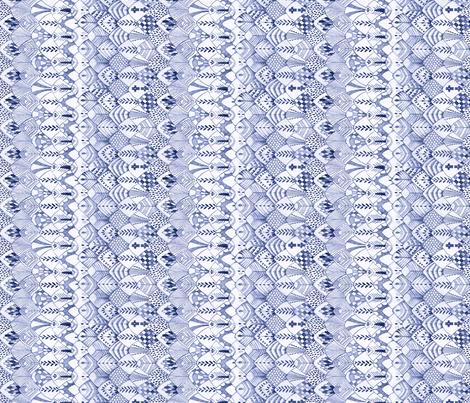Owl Feathers Dark Blue, Sideways fabric by thistleandfox on Spoonflower - custom fabric