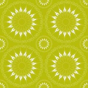 stylized green flower pattern