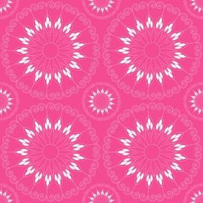 stylized pink flower pattern