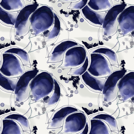 Indigo Abundance fabric by samdraws on Spoonflower - custom fabric