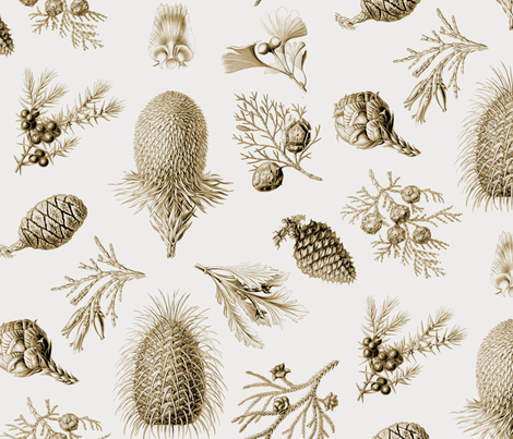 Woodland Conifer fabric by willowlanetextiles on Spoonflower - custom fabric