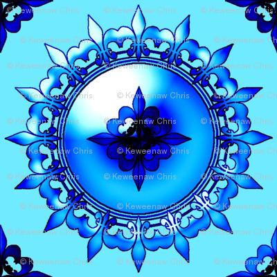 Allan's fleur de lis blue