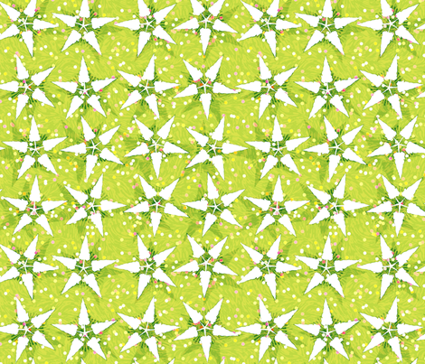 christmas tree stars fabric by keweenawchris on Spoonflower - custom fabric