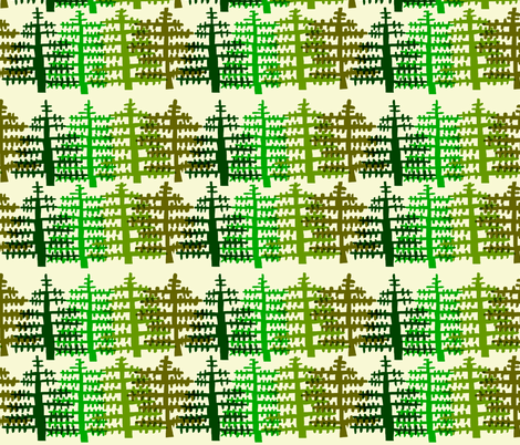 Noble Fir fabric by kimmurton on Spoonflower - custom fabric