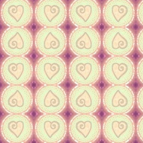 hearted pastel