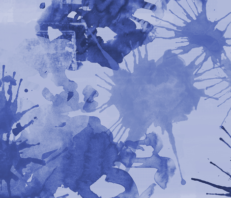 blue water color fabric by suziedesign on Spoonflower - custom fabric