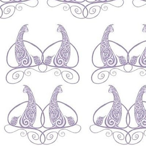 Cat and Mouse - Soft Purple