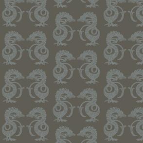 Dragons at Dawn - Bronze and Silver
