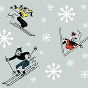 Retro-Skiing