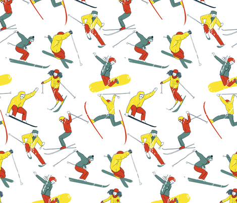 skier fabric by veraholera on Spoonflower - custom fabric
