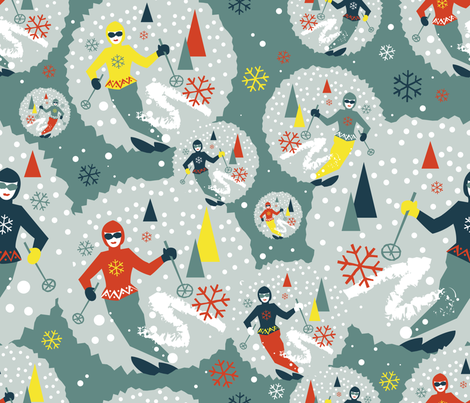 Snowball fabric by cassiopee on Spoonflower - custom fabric