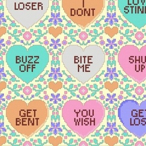 Anti Valentine S Day Candy Hearts Fabric Spacefem Spoonflower