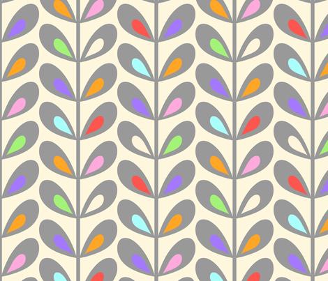 Creamsicle leaves  fabric by vo_aka_virginiao on Spoonflower - custom fabric