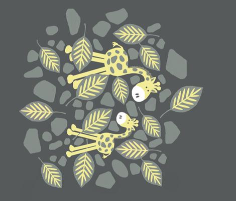 nevin giraffe  fabric by paragonstudios on Spoonflower - custom fabric