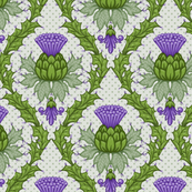 Scottish Thistle Damask
